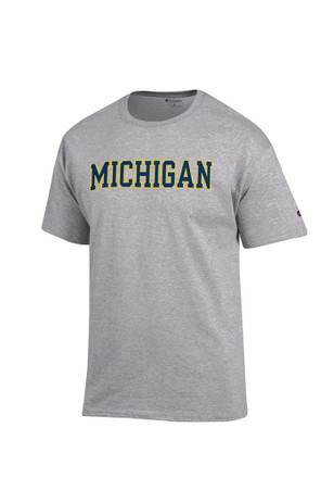 Champion Michigan Wolverines Mens Grey Rally Loud Tee
