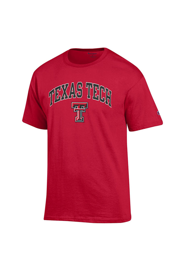 Champion Texas Tech Red Raiders Red Arch Mascot Short Sleeve T Shirt - Image 1