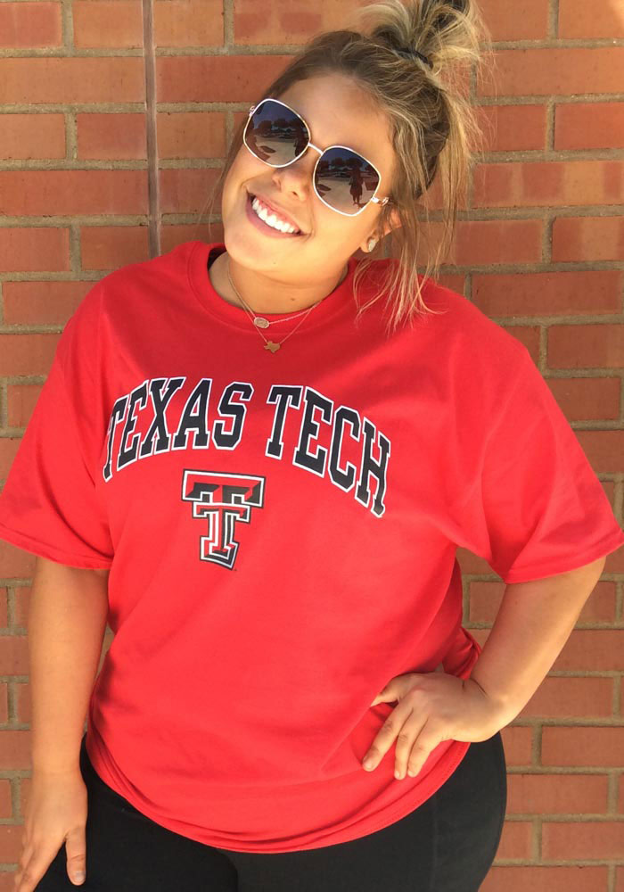 Champion Texas Tech Red Raiders Red Arch Mascot Short Sleeve T Shirt - Image 2