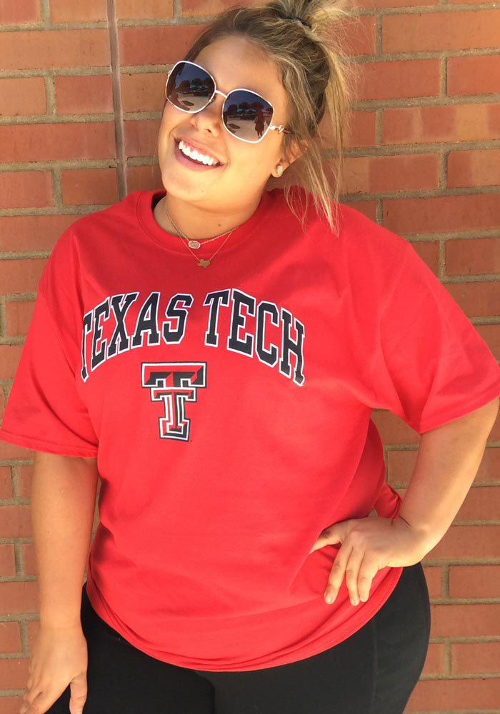 Champion Texas Tech Red Raiders Red Arch Mascot Short Sleeve T Shirt - Image 3