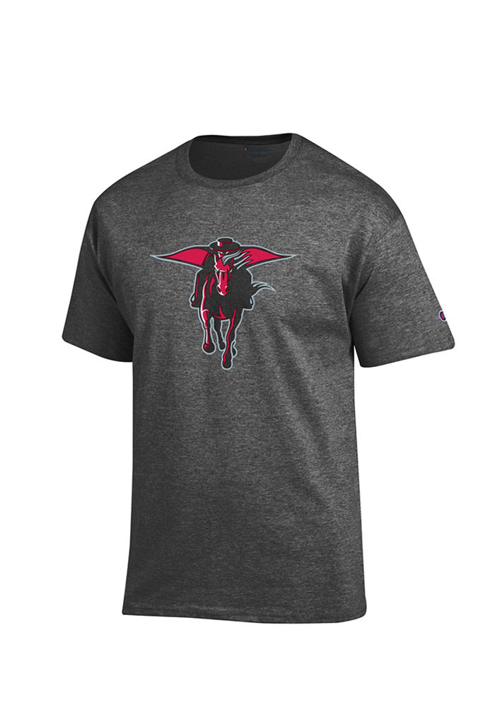 Texas Tech Red Raiders Mens Grey Big Logo Short Sleeve T Shirt - Image 1