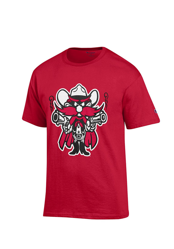 Champion Texas Tech Red Raiders Red Distressed Short Sleeve T Shirt - Image 1