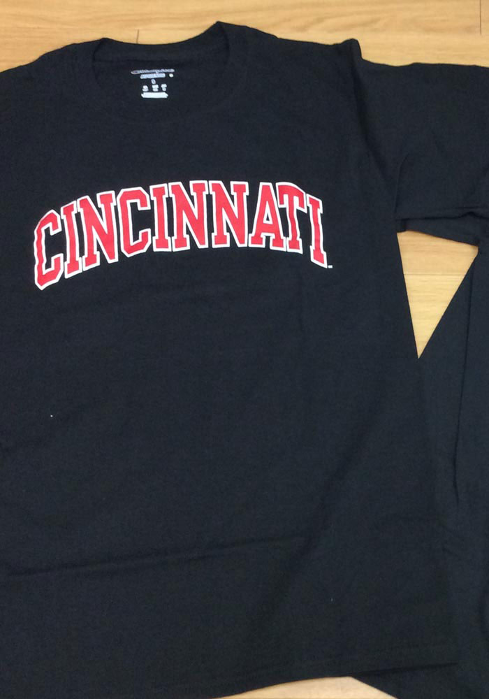 Champion Cincinnati Bearcats Black Rally Loud Short Sleeve T Shirt - Image 2
