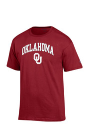 Oklahoma Mens Red Arch Mascot Tee