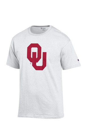Oklahoma Mens White Big Logo Tee