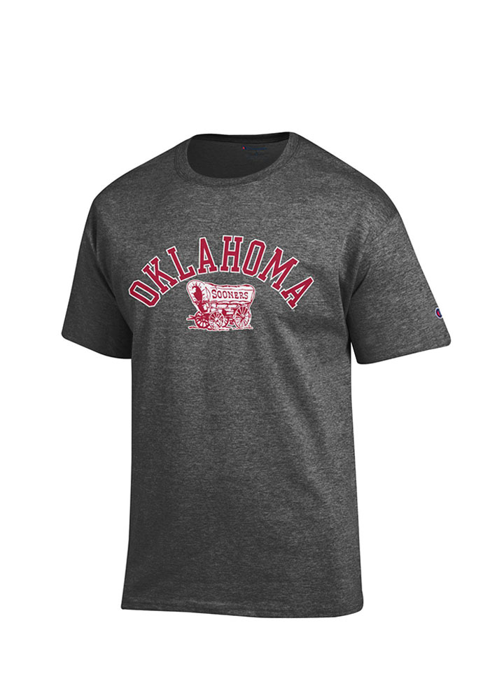 Champion Oklahoma Sooners Grey Big Logo Short Sleeve T Shirt - Image 1