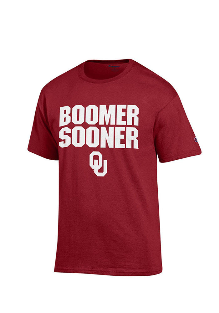 Champion Oklahoma Sooners Crimson Slogan Short Sleeve T Shirt - Image 1