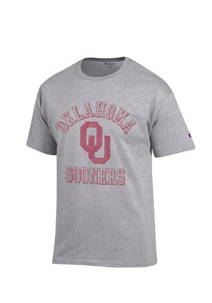 Oklahoma Mens Grey Number 1 Tee
