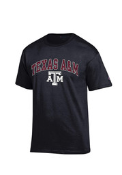 Texas A&M Mens Black Arch Mascot Tee