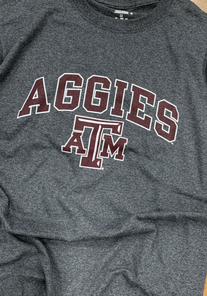Champion Texas A&M Aggies Grey Arch Mascot Short Sleeve T Shirt - Image 2