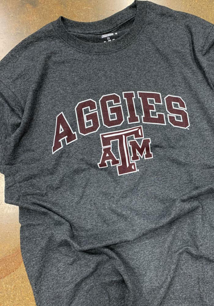 Champion Texas A&M Aggies Grey Arch Mascot Short Sleeve T Shirt - Image 3