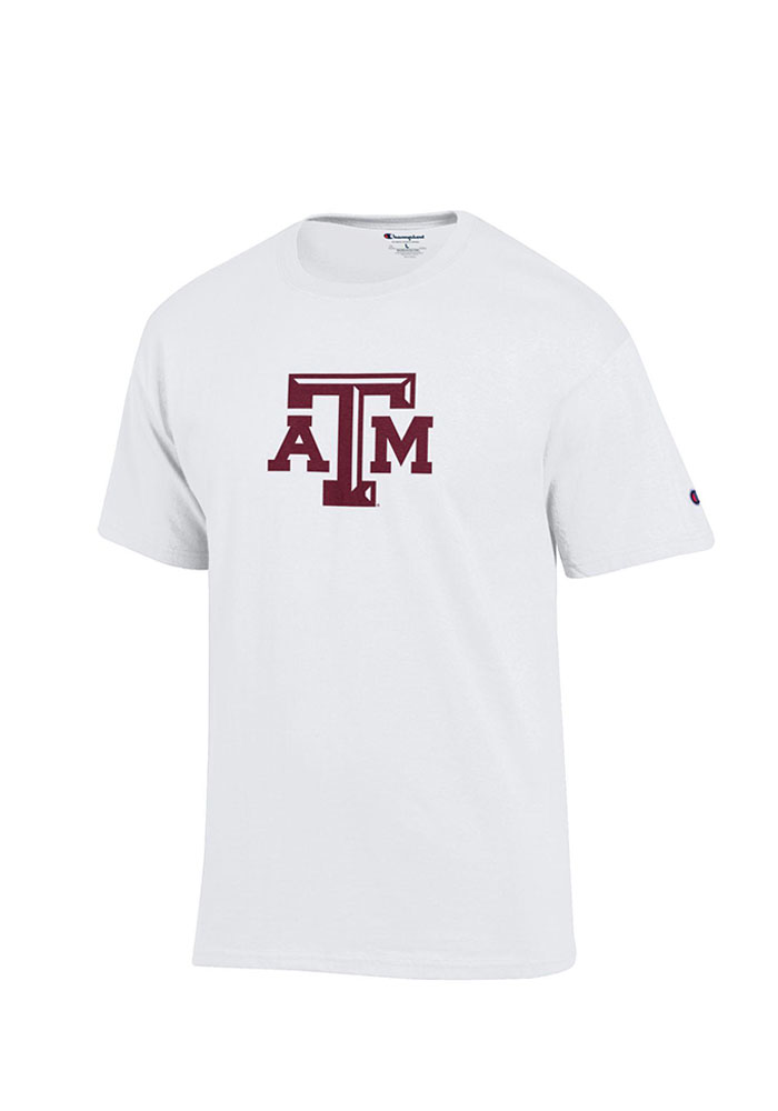 Champion Texas A&M Aggies White Big Logo Tee