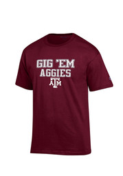 Texas A&M Mens Maroon Slogan Tee