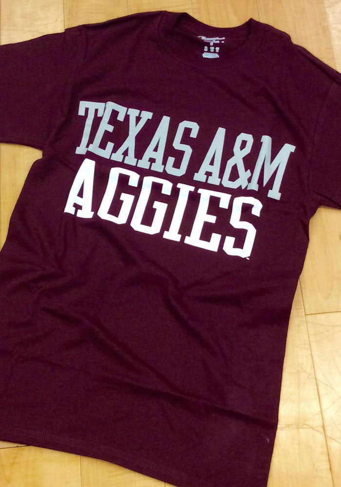 Champion Texas A&M Aggies Maroon Rally Loud Short Sleeve T Shirt - Image 2