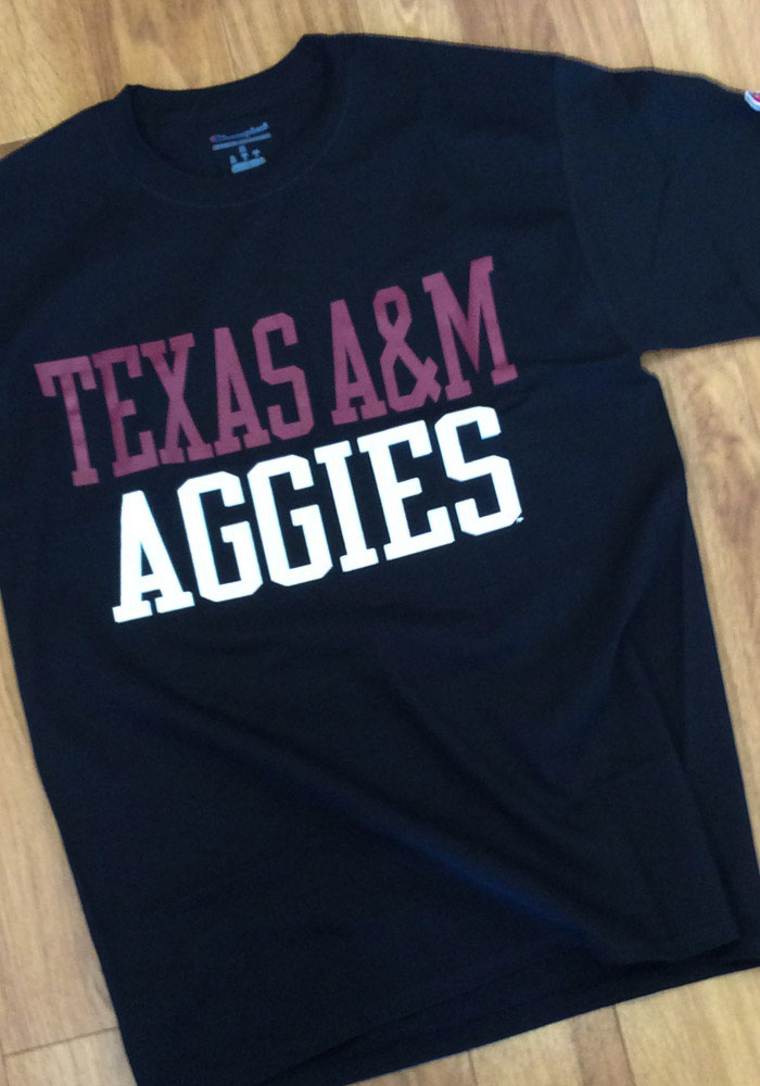 Champion Texas A&M Aggies Black Rally Loud Short Sleeve T Shirt - Image 2