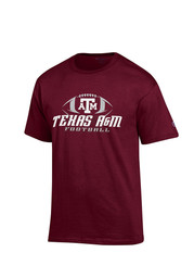 Texas A&M Mens Maroon Football Tee