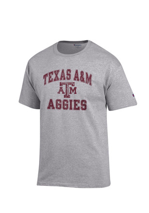 Texas A&M Mens Grey Number 1 Tee