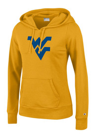 West Virginia Mountaineers Womens Gold Eco Fleece Hoodie