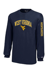 West Virginia Mountaineers Youth Navy Blue Jersey T-Shirt