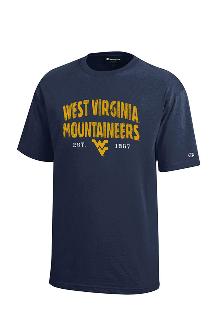 West Virginia Mountaineers Youth Navy Blue Jersey Short Sleeve T-Shirt - Image 1
