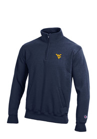 West Virginia Mountaineers Champion Fleece 1/4 Zip Pullover - Navy Blue
