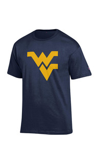Champion West Virginia Mountaineers Navy Blue Big Logo Tee