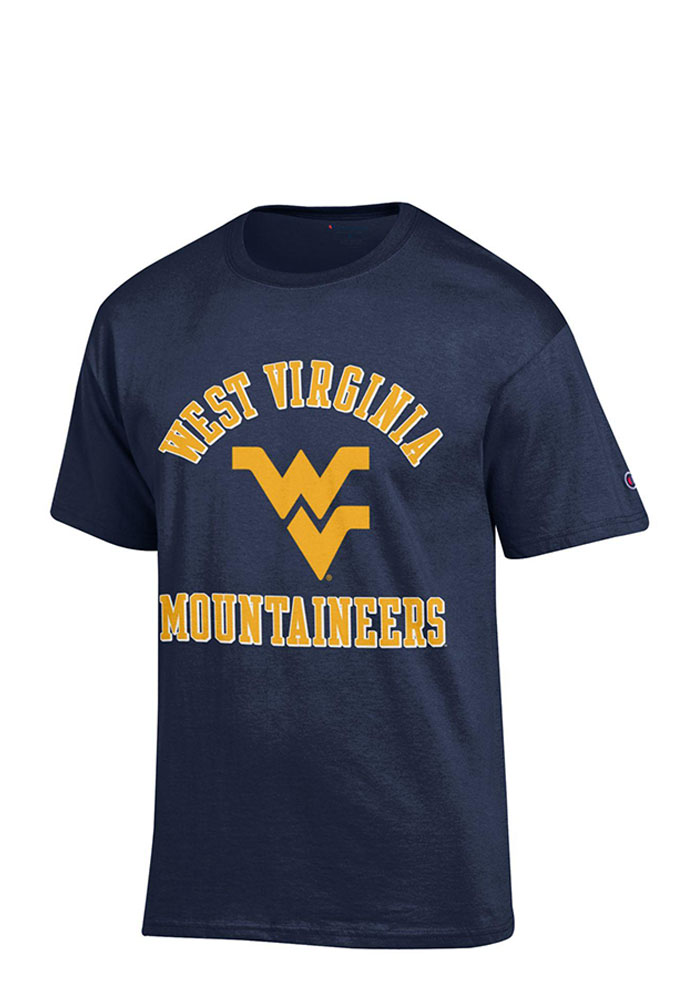 Champion West Virginia Mountaineers Navy Blue #1 Tee