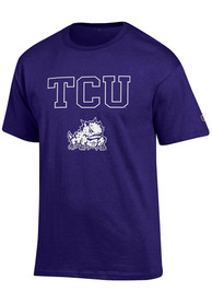 Champion TCU Horned Frogs Purple Arch Mascot Tee