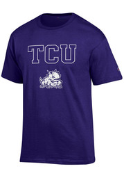 Horned Frogs Mens Purple Arch Mascot Tee