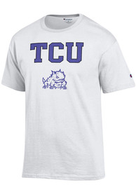 TCU Horned Frogs White Arch Mascot Tee