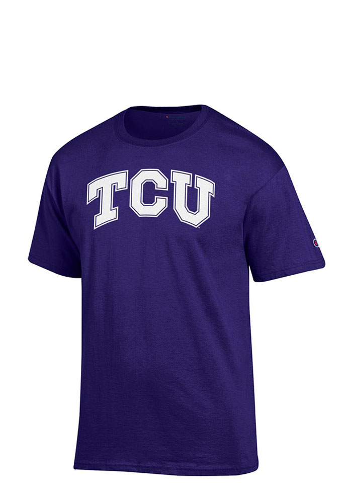 TCU Horned Frogs Purple Big Logo Short Sleeve T Shirt - Image 1
