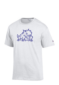 TCU Horned Frogs White Big Logo Tee