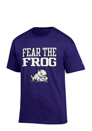 Horned Frogs Mens Purple Fear the Frog Tee