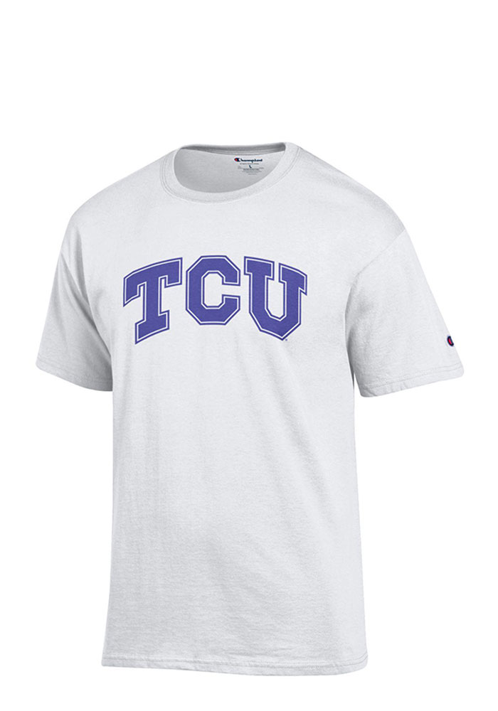 TCU Horned Frogs White Rally Loud Short Sleeve T Shirt - Image 1