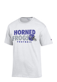TCU Horned Frogs White Football Tee