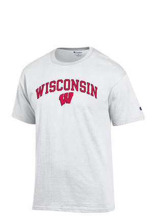 Wisconsin Badgers Mens White Arch Mascot Tee