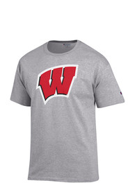 Champion Wisconsin Badgers Grey Big Logo Tee