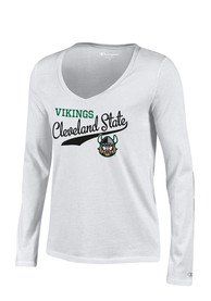 Cleveland State Vikings Juniors White Campus Script T-Shirt