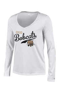 Ohio Bobcats Juniors White Campus Script T-Shirt