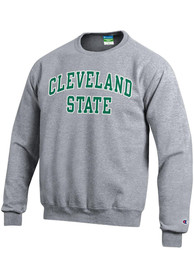Cleveland State Vikings Champion Fleece Crew Sweatshirt - Grey