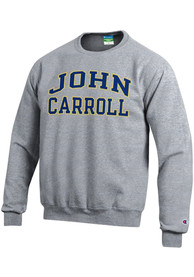 John Carroll Blue Streaks Champion Fleece Crew Sweatshirt - Grey
