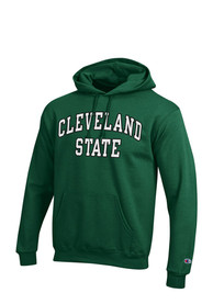Cleveland State Vikings Champion Fleece Hooded Sweatshirt - Green