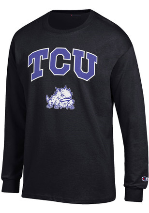 TCU Horned Frogs Mens Black Arch Mascot Tee