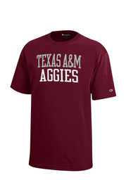 Texas A&M Aggies Kids Maroon Rally Loud T-Shirt