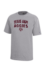 Texas A&M Aggies Kids Grey Arch T-Shirt