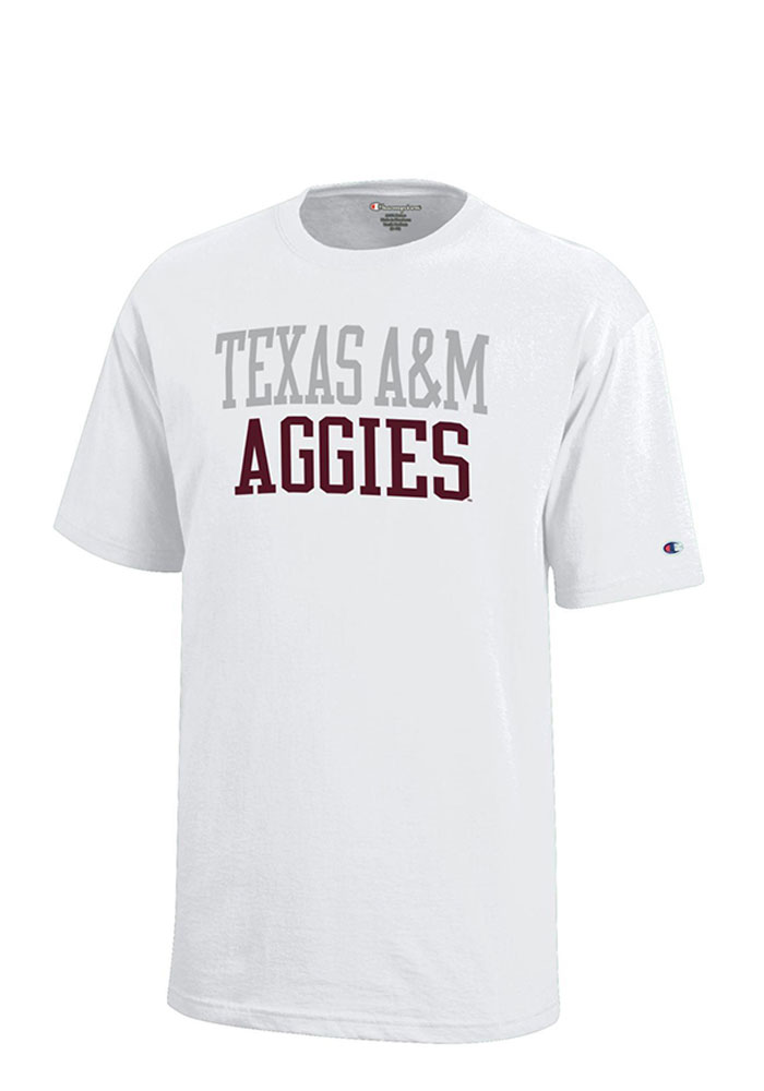 Texas A&M Aggies Youth White Rally Loud Short Sleeve T-Shirt - Image 1
