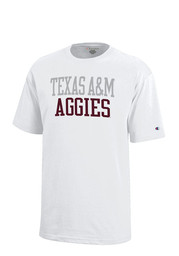 Texas A&M Aggies Kids White Rally Loud T-Shirt