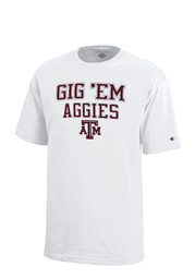 Texas A&M Aggies Kids White Gig 'Em T-Shirt