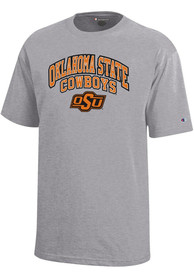 Oklahoma State Cowboys Youth Grey Arch Mascot T-Shirt