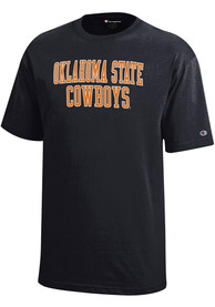 Oklahoma State Cowboys Youth Black Rally Loud T-Shirt